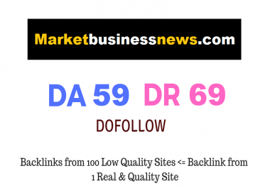 Provide guest post in marketbusinessmews.com with dofolow link