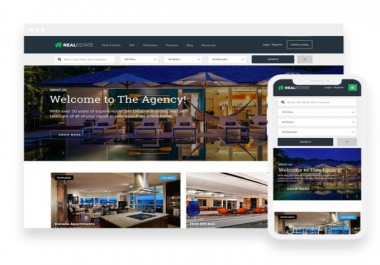 I will design your real estate website in wordpress and seo