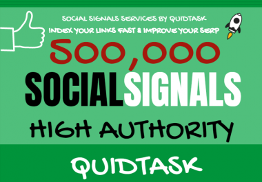 Get 500,000 Social Signals for SEO and Traffic Boost - High Authority Pages and Established Audience