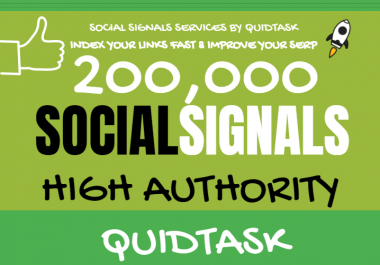 Get 200,000 Social Signals for SEO and Traffic Boost - High Authority Pages and Established Audience