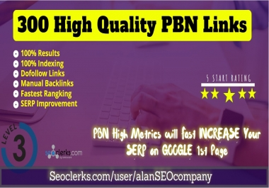 300 Permanent DR 66 Homepage high quality PBN Dofollow Backlink