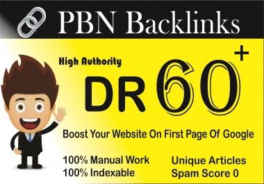 Provide 17 DR 60+ pbn homepage dofollow backlinks