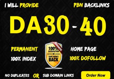 Provide you 10 high DA 30-40 PBN links