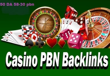 50 permanent DA 58-30 PBN Backlinks Casino, Gambling, Poker, Judi Related Websites