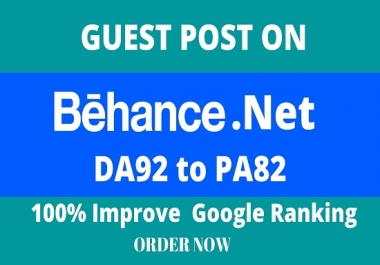Write and Publish Guest Posts On DA92 Behance.net