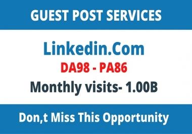 Write and publish guest post on Linkedin.Com and Fast Google Index