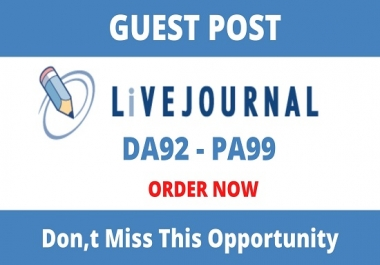 write and publish guest posts on Livejournal- Livejournal.com