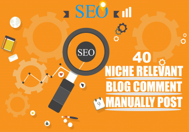 Manual Build 40 Niche Relavant Blog Comments High Authority Backlinks