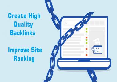 build 80 high Authority domain SEO backlink da30to100