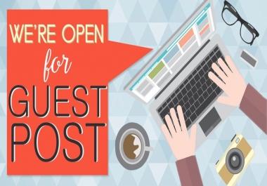 Build High Authority Guest Post DA40 Plus High Authority Domain Backlinks