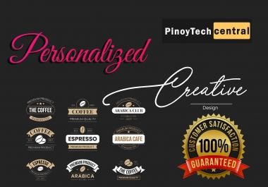 I will design personalized and minimalistic logo