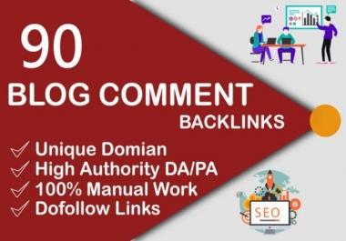 i will do 90 dofollow blog comments backlinks