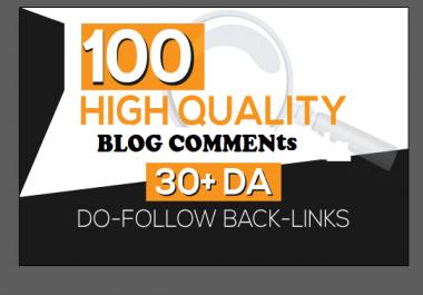 i will do SEO blog comments backlinks DA 30+ sites
