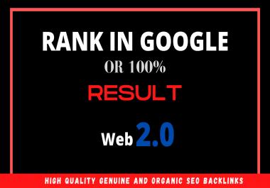 Build High authority web 2.0 backlinks Rank on Google