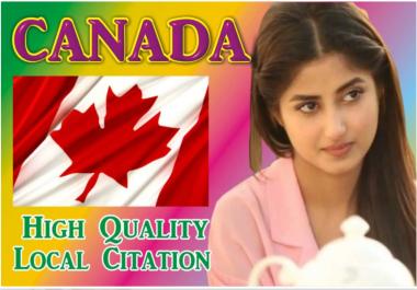I will top 20 canada local listing citations drectories