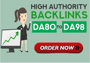 I will make 20 high authority quality SEO dofollow backlinks