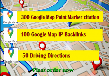 rank your gmb on google maps with ip backlinks & directions