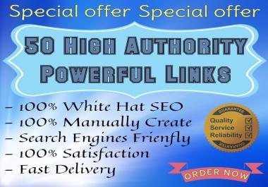 I will build Manual 50 backlinks from multiple platforms