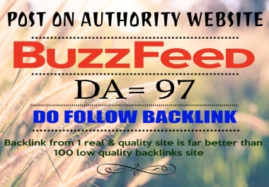 Publish YOUR article on BuzzFeed.com