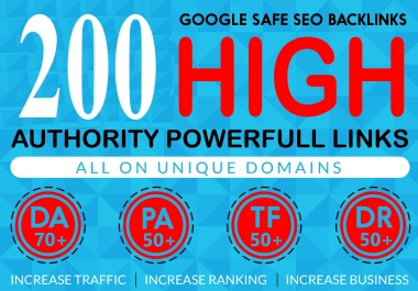 I Will Provide 200 High Authority Powerfull Homepage web2.0 Backlink 100% Permanent Dofollow