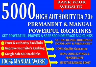 DR60+ 5000 HighAuthority Permanent Web2.0 Homepage Backlinks With High DA/PA On Ranking your Website