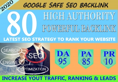 I Will Manually Do 80 UNIQUE PR10 SEO BackIinks On DA 95 Sites To RANK Your Website
