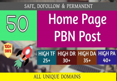 Build 50+ Backlink with 60+ Da 35+ PA DOFOLLOW with all of unique websile link