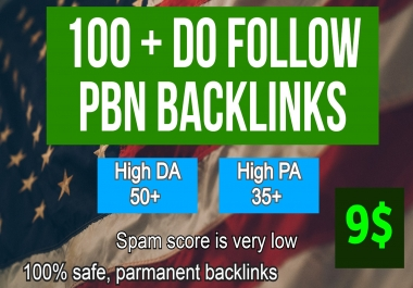 Powerful 100+ Backlink with 50+ DA 35+ PA High Quality unique website link. GET IT NOW!!