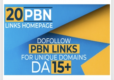 I will build 20 high da pa tf cf permanent homepage pbn dofollow backlinks