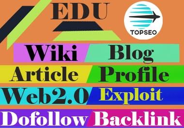 Mix SEO 50 edu 50 wiki 50 dofollow 50 profile 50 web2.0 50 article 50 blog 50 exploit