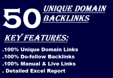 I will 50 unique domains manual blog comments backlinks da,pa,