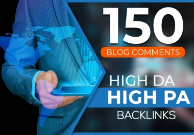 I will do manually 150 dofollow blog comment backlinks with da20 plus