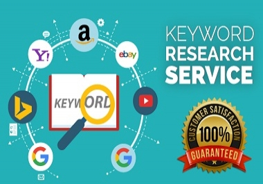 do SEO keyword research google youtube instagram ebay and competitor analysis in 24 hours