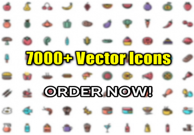 7K+ Vector Icons for Websites / Theme - Icon Set