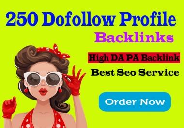 create manually 250 pr9 da 90 dofollow profile backlinks