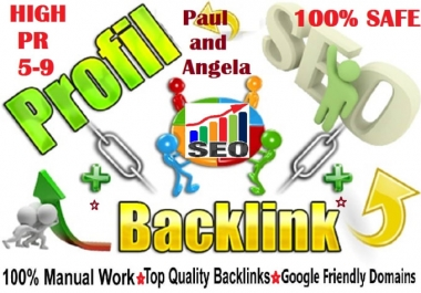 I will build 50 Paul and Angela profile back links