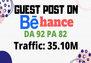 Write And Publish Guest Post On High DA 92 Behance.net Design Blog