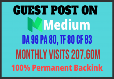 Write And Publish Guest Post On DA 96 High Brand Website Medium.Com