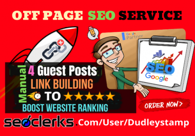 Improve Your Keyword Google Rankings With 4 High DA Guest Posts Strong Backlinks