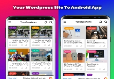 Convert your Wordpress blog, news site to an android app. Get your website app