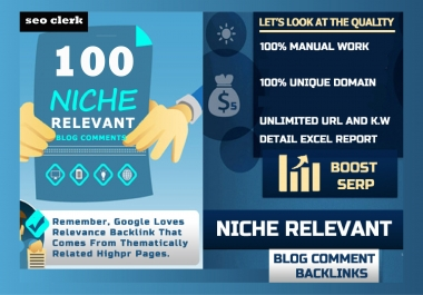 i will provide nechi revelant backlinks blog comments