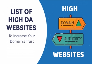 I will create da 50 dofollow High Authority Permanent Manual SEO Backlinks