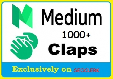Get 1000+ Medium Claps to your post