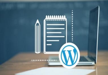 I will create a responsive wordpress website