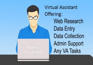 I will be an ideal virtual assistant, data entry, web research, copy paste