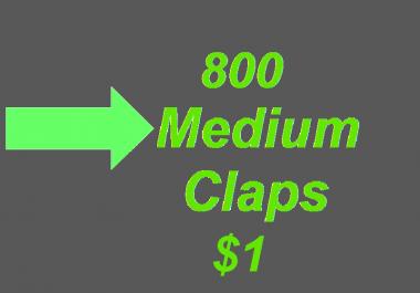 800+ Medium Claps on your Medium Article medium