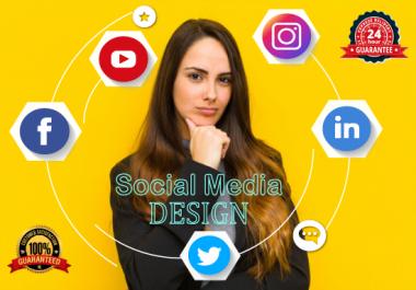 Design Professional social media cover / posts / Ads for Facebook, Instagram, Twitter, Linkedin