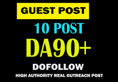 Permanent 10 guest post publish with High DA PA