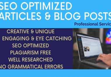 I will write quality Article, Content on any topic.