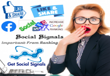 Powerful Sites 1 million Webs Social Signals Media networks Marketing Bookmarks Important For SEO